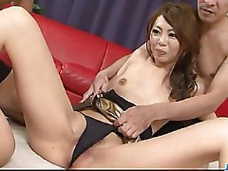 Mio Hiragi Craves To Feel Jizz Over Her Cramped Pussy