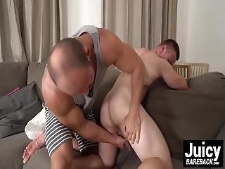 Muscular Bald Beast Fucks Maxes Tight Ass