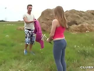 Slavic Couple Fucks Publicly On A Meadow - Part4