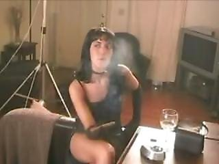 Sammi Smoking A Cigar 1