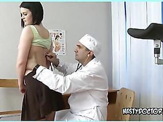 Nasty Doctor Touching Innocent Teen