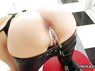 Spicy Lesbos Fill Up Their Enormous Asses With Cream And Splatter It Out