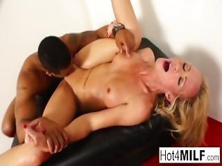 Stripper Milf Receives An Interracial Fucking From A Customer