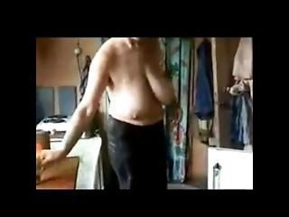 Russian Grandma Margo Saggy Boobs 2.