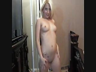 Blonde Blue Eyed Wife Sexy Striptease
