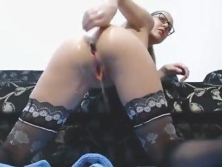 Elle Gilbert Extreme Anal Fisting And Squirting In Stockings