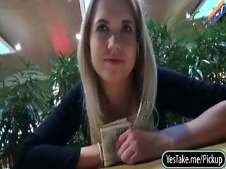 Real amateur Czech girl Violette Pink pussy railed for cash