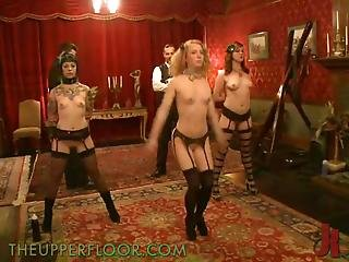 Submissive Dolls Forced To Go Lesbo Together With 1 Another Inside Sadism Party