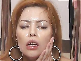 Massive Asian Bukkake With Swap And Swallow 7
