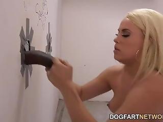 Sexy Blonde Blowjob Gloryhole