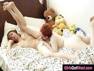 Hairy Redhead Panda Enjoys Licking And Rimming