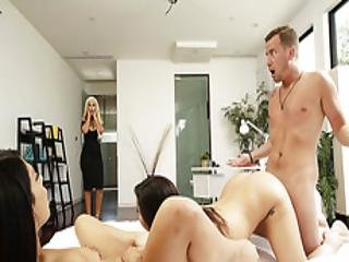 Brunette Karlee Horny For Threeway Sex