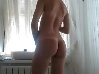 Cam Girl Hanging Out In Her Window Strip Dances Part 2 2016-06-19
