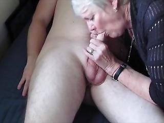 Stepgrandma Sucks Stepgrandson Dick And Gets Fingered