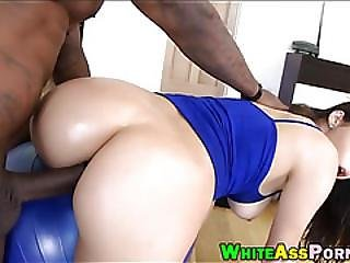 Busty Latina Gets Her Asshole Screwed By Big Black Cock