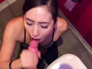 Asian Student Swallows Cum From Stranger At Gym