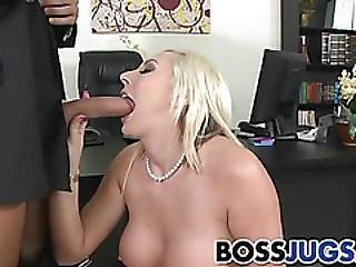 Busty Skylar Price In Hungry For Employee Cock