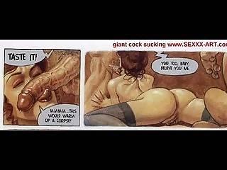 Harter Unterricht Porno Comic
