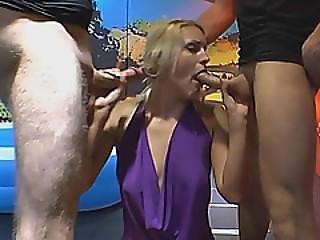 European Slut Sucks Cock And Gets Wet In Piss