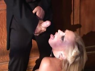 Priest Sprays Holy Jizz All Over This Milf S Face