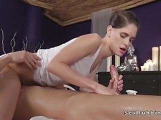 Brunette Massages Cock In Sixtynine