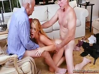 Two Amateur Teens Flashing Frannkie And The Gang Tag Team A Door To Door