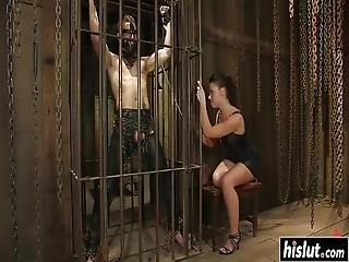 Penny Flame Forced A Guy Into Drilling Her Pussy Until He Cums