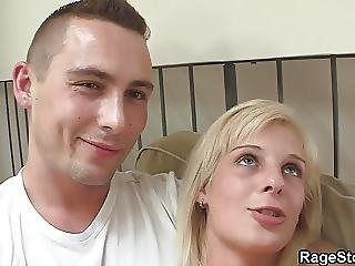 He Punishes His Blonde Gf