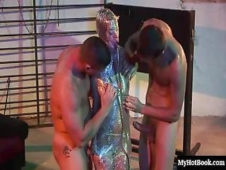 Chloe Delaure Is In A Mmf, Hardcore Threesome, In A Dungeon That They