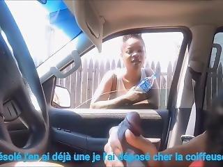 Femme Regarde Cette Grosse Bite Exhibition Public ( French Text )