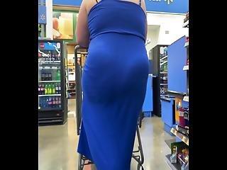 Bbw In A Tight See Through Dress - Vpl
