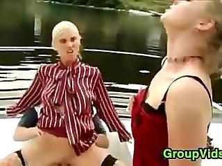ボート, グループセックス, アウトドア, パブリック, セックス