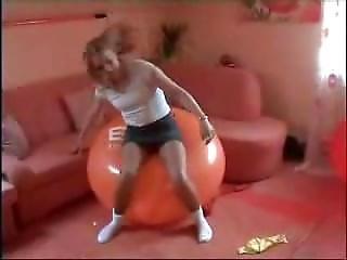 Popping Balloons In White Socks