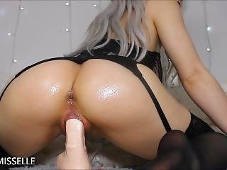 Messy Fingering And Dildo Creampie