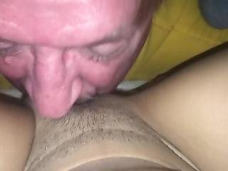 50 Yr Old Eats His First Young Pussy