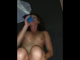 Danni Ryan Fucking Dildo By Pool