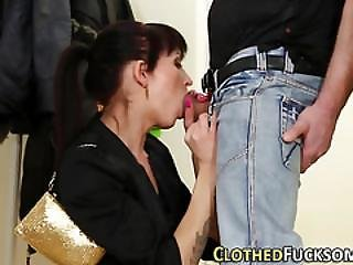 Glam European Gets Cummed