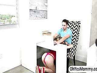 Stepmom Veronica Busts Teen Lolo Sucking Her Boyfriends Dick