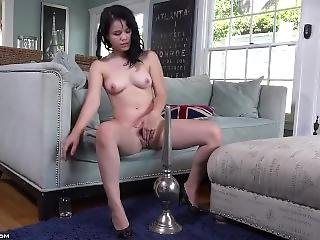 Yhivi Rides A Huge Dildo