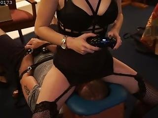 Goddess Smothers And Pees On Slave