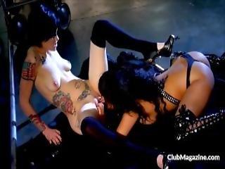 Asian Slut Ana Cruz And Cadence Lick Each Others