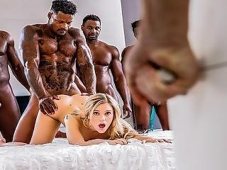 черный, блондинка, минет, хуй, групповуха, межрасовый, лизать, порнозвезда, киска, киска лизать
