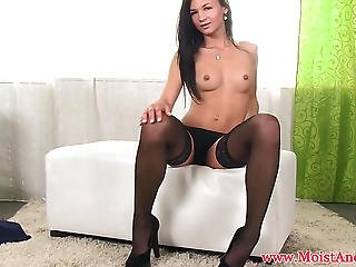 Blackhaired Beauties Solo Masturbation