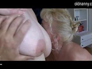 Two Chubby Grannies Sucking One Dick