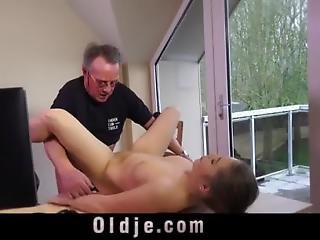Big Boobed Married Young Babe Gets Caught Fucking An Old Guy