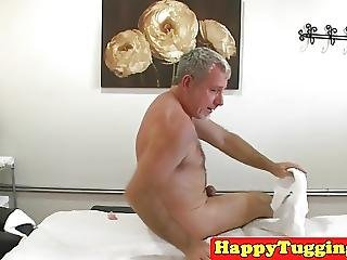 Asian Masseuse Sixtynines Client On Table