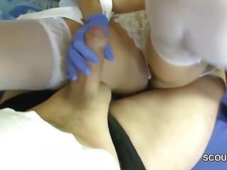Dianna From Dates25.com - German Milf Nurse Helps Patient With Perfect Handjob