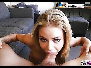 Blonde Whore Gets Sloppy With This Cock
