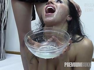 Premium Bukkake - Linda Swallows 57 Huge Mouthful Cumshots
