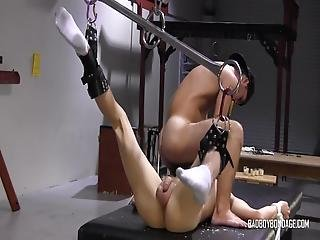 Tied Up Sub Covered In Wax And Forced To Give Oral To Dom